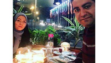 شام خوردن آزاده نامداری و همسرش سجاد عبادی