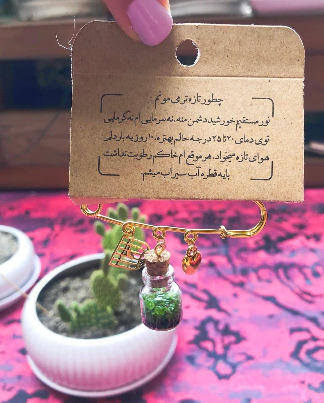 shaghayeghdehghan plant - عکس/ راهکار عجیب شقایق دهقان برای مانتوی جلو باز!