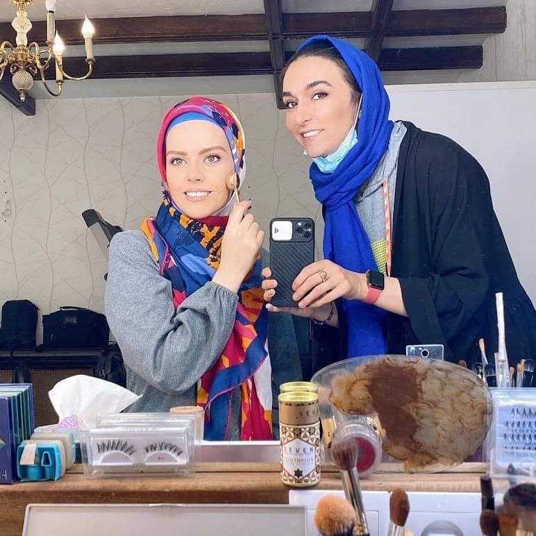 گریم غزاله نظر در نقش رهای سریال احضار