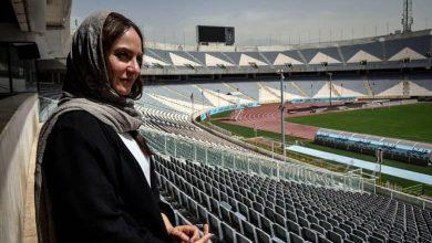 مهناز افشار عکسی در استادیوم منتشر کرد.