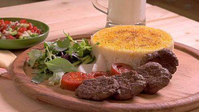 کباب ماهیتابه گوشت و بادمجان بسیار لذیذ است.