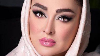 الهام حمیدی با آرایش بسیار غلیظ عکس گرفت.