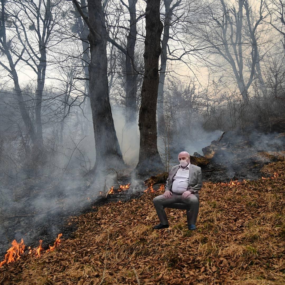 عیسی کلانتری در جنگل سوخته