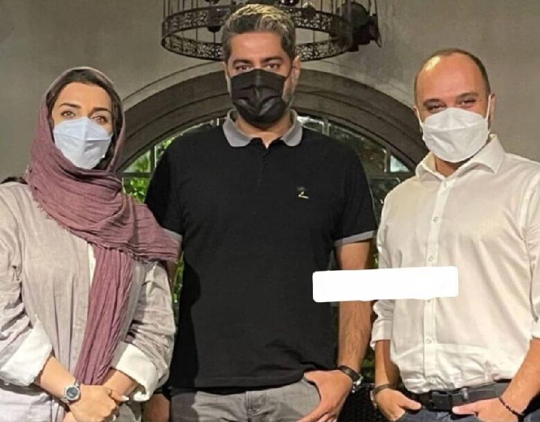 الهام پاوه نژاد با شوهر آزاده نامداری عکس گرفت.