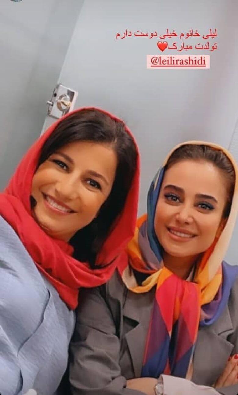 الناز حبیبی و لیلی رشیدی با هم عکس گرفتند.