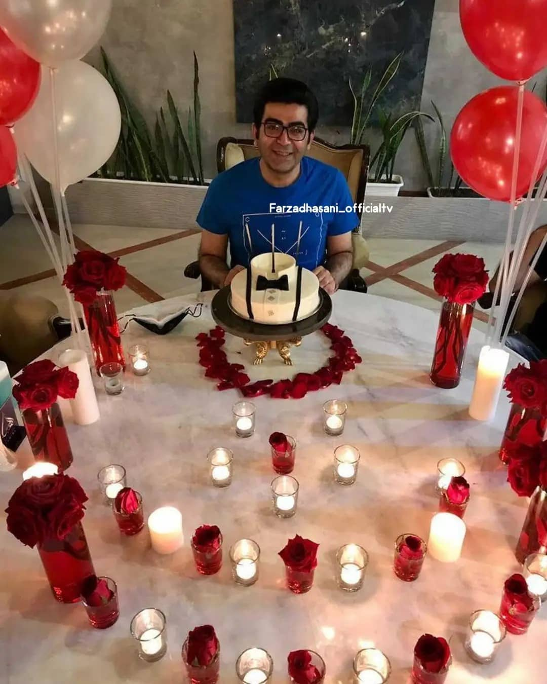 عاشقانههای فرزاد حسنی در تولد 44 سالگی