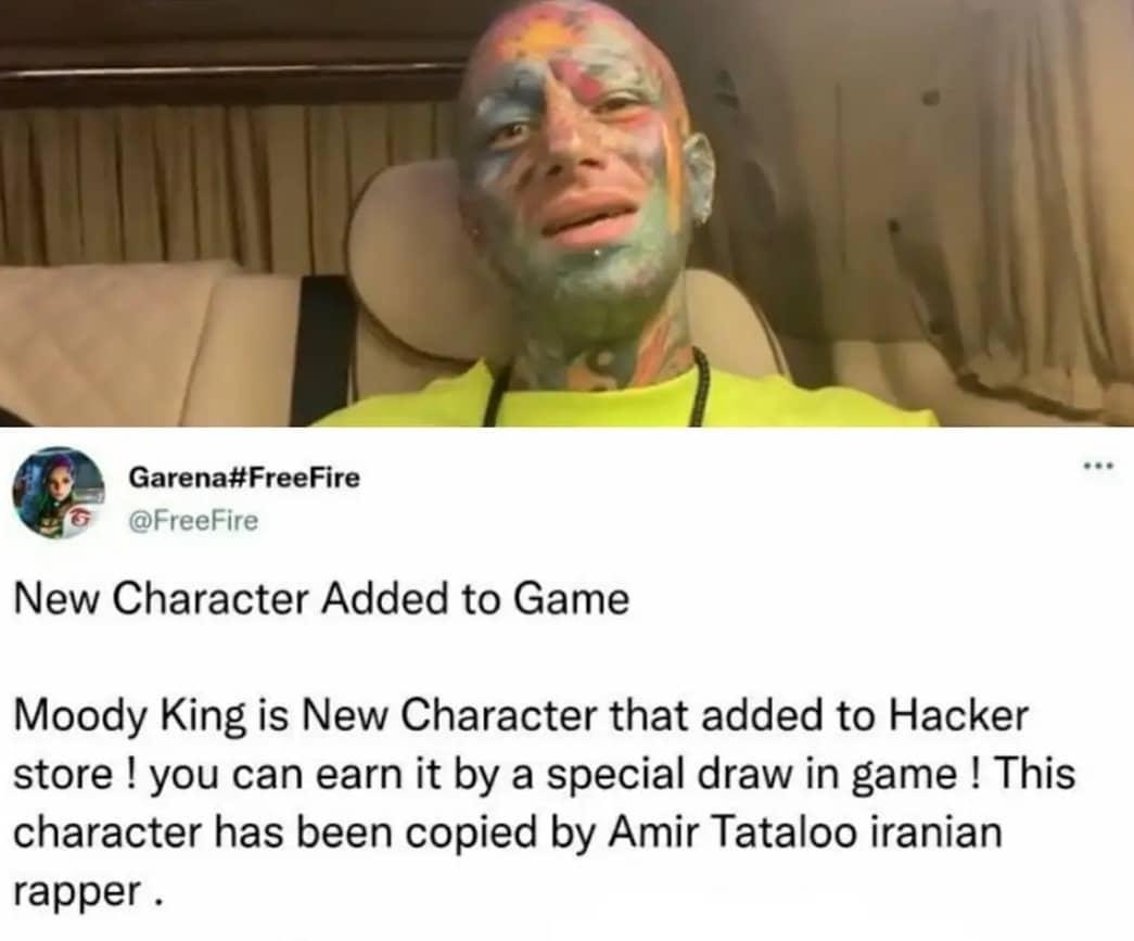 تتلو شخصیت بازی جدید فری فایر میشود