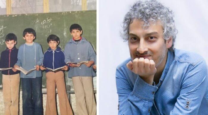 ارژنگ امیرفضلی در دوران مدرسه چه شکلی بود.