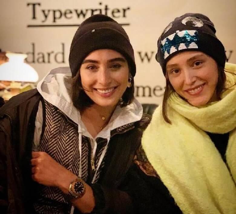 فرشته حسینی و آناهیتا افشار با تیپ زمستانی دیده شدند.
