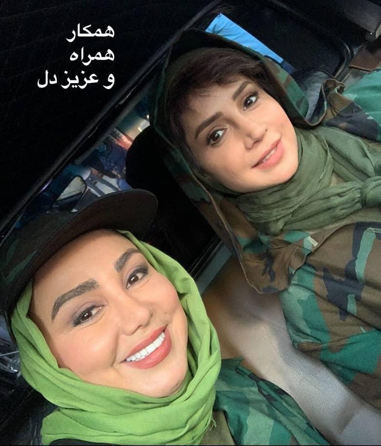 بهنوش بختیاری و شبنم قلی خانی لباس نظامی پوشیدند.