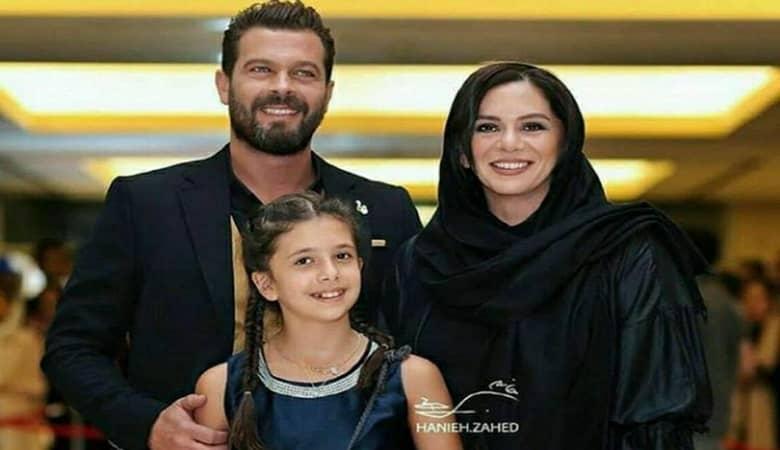 پژمان بازغی همراه همسرش مستانه مهاجر و دخترشان