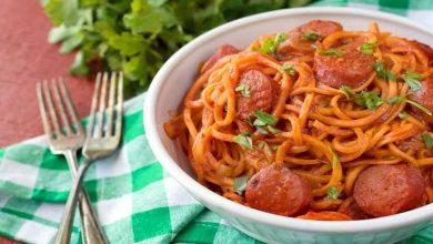"""""""اسپاگتی سوسیس""""، غذایی جذاب برای افراد خاص پسند"""